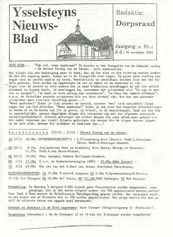 Ysselsteyns Nieuwsblad 1993-11-26