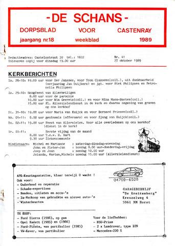 Castenrays dorpsblad De Schans 1989-10-27