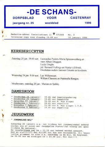 Castenrays dorpsblad De Schans 1996-01-18