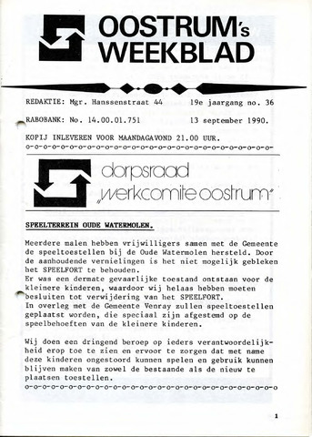 Oostrum's Weekblad 1990-09-13
