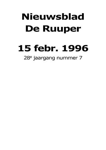 Dorpsblad Leunen-Veulen-Heide 1996-02-15