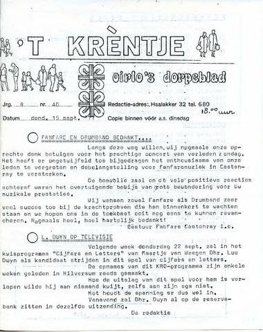 Oirlo's dorpsblad 't Krèntje 1977-09-15