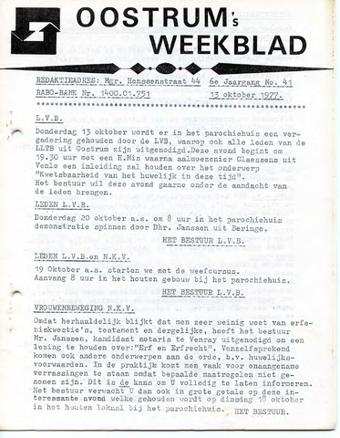 Oostrum's Weekblad 1977-10-13