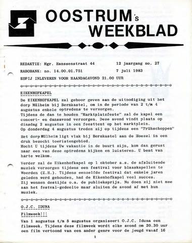 Oostrum's Weekblad 1983-07-07