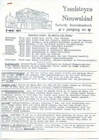 Ysselsteyns Nieuwsblad 1977-05-06
