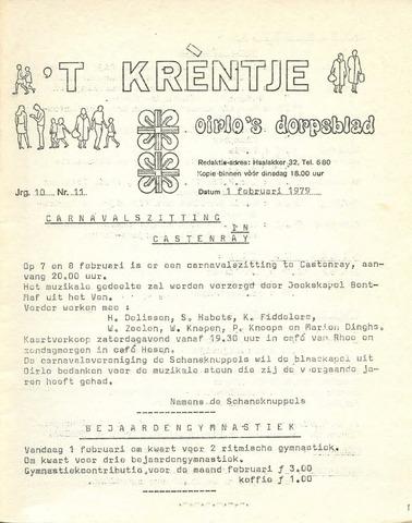 Oirlo's dorpsblad 't Krèntje 1979-02-01