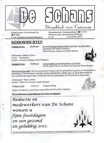 Castenrays dorpsblad De Schans 2010-12-22