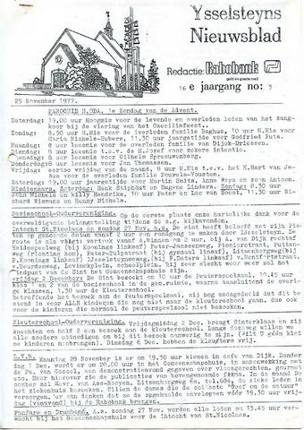 Ysselsteyns Nieuwsblad 1977-11-25