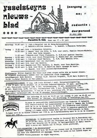 Ysselsteyns Nieuwsblad 1982-07-16