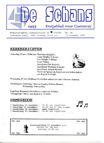 Castenrays dorpsblad De Schans 1997-11-13