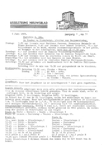 Ysselsteyns Nieuwsblad 1969-06-06
