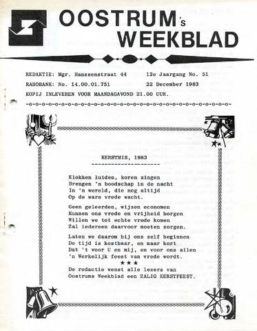 Oostrum's Weekblad 1983-12-22