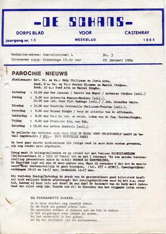 Castenrays dorpsblad De Schans 1984-01-20