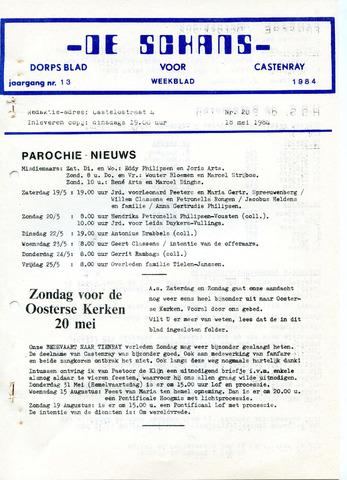 Castenrays dorpsblad De Schans 1984-05-18