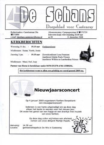 Castenrays dorpsblad De Schans 2008-12-31