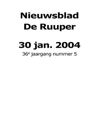 Dorpsblad Leunen-Veulen-Heide 2004-01-30