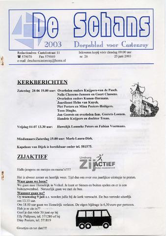Castenrays dorpsblad De Schans 2003-06-25
