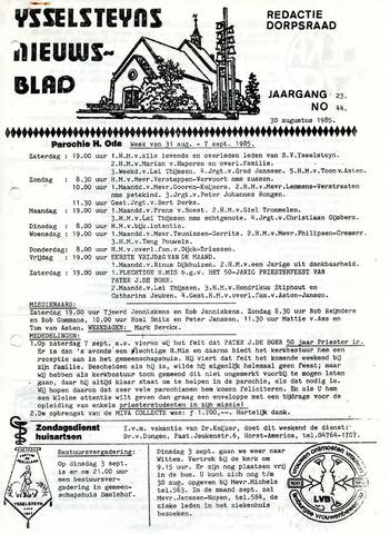 Ysselsteyns Nieuwsblad 1985-08-30