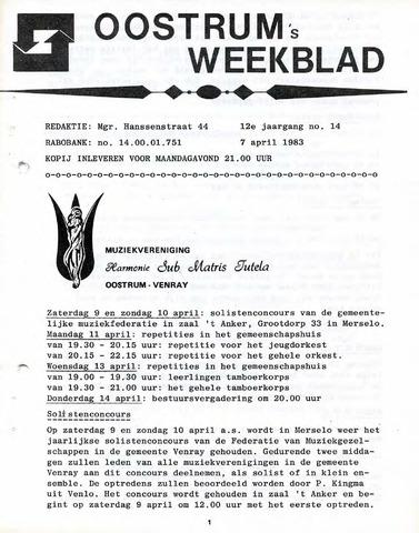 Oostrum's Weekblad 1983-04-07