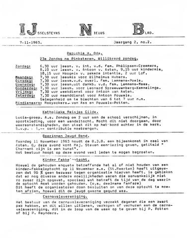 Ysselsteyns Nieuwsblad 1963-11-07