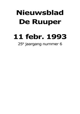 Dorpsblad Leunen-Veulen-Heide 1993-02-11