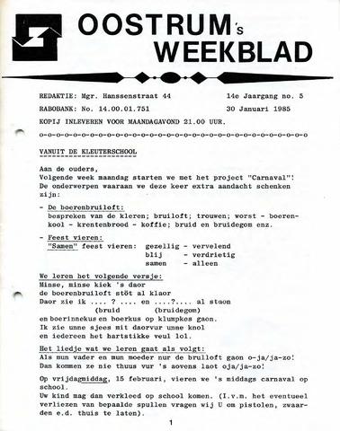 Oostrum's Weekblad 1985-01-30