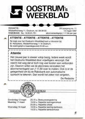 Oostrum's Weekblad 1997-03-13