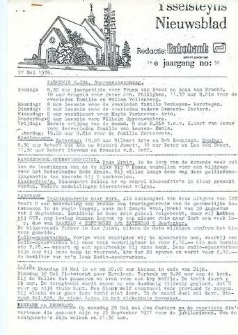 Ysselsteyns Nieuwsblad 1978-05-27