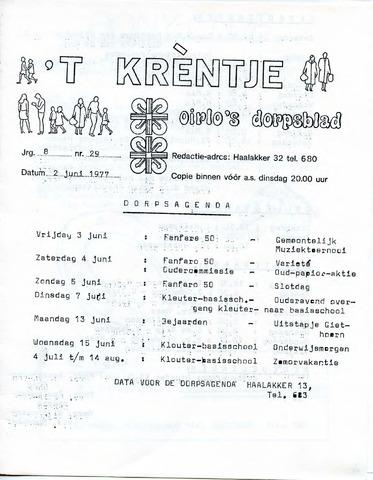 Oirlo's dorpsblad 't Krèntje 1977-06-02