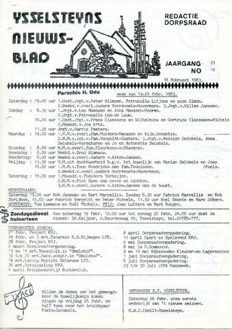 Ysselsteyns Nieuwsblad 1983-02-18