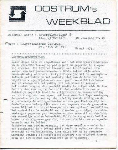 Oostrum's Weekblad 1973-05-18