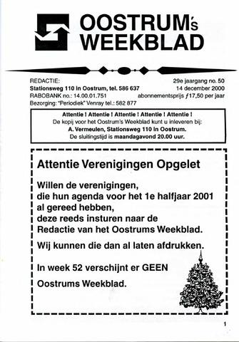 Oostrum's Weekblad 2000-12-14