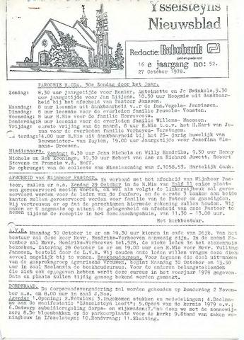 Ysselsteyns Nieuwsblad 1978-10-27
