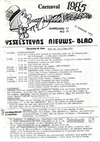 Ysselsteyns Nieuwsblad 1985-02-15