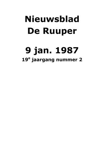 Dorpsblad Leunen-Veulen-Heide 1987-01-09