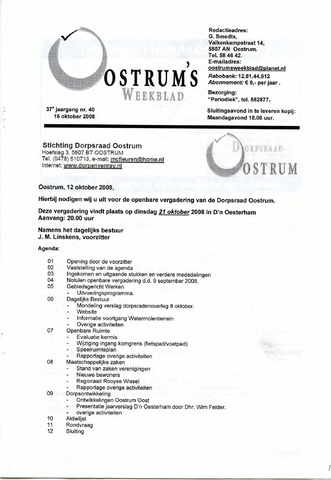Oostrum's Weekblad 2008-10-16