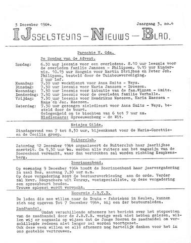 Ysselsteyns Nieuwsblad 1964-12-03