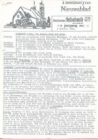 Ysselsteyns Nieuwsblad 1978-10-06