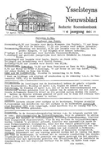 Ysselsteyns Nieuwsblad 1974-04-12