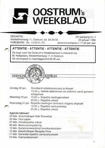 Oostrum's Weekblad 1996-01-25