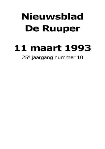 Dorpsblad Leunen-Veulen-Heide 1993-03-11