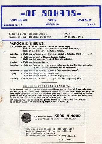 Castenrays dorpsblad De Schans 1984-01-27