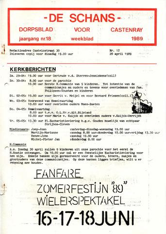 Castenrays dorpsblad De Schans 1989-04-28