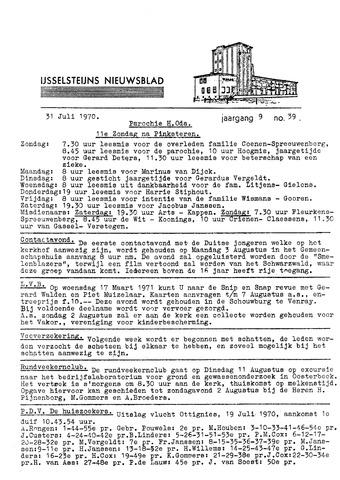 Ysselsteyns Nieuwsblad 1970-07-31
