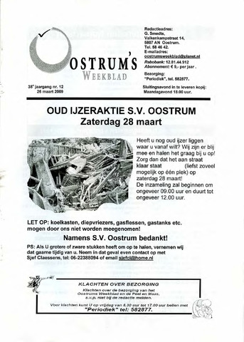 Oostrum's Weekblad 2009-03-26