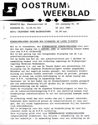 Oostrum's Weekblad 1981-07-23