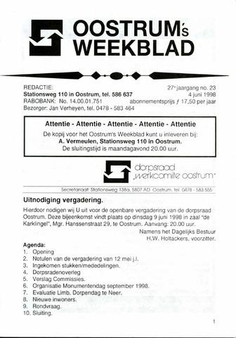 Oostrum's Weekblad 1998-06-04