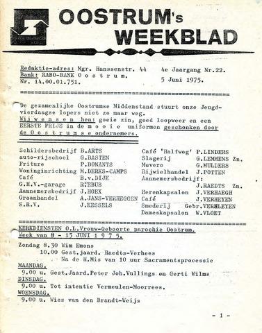 Oostrum's Weekblad 1975-06-05