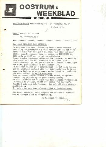 Oostrum's Weekblad 1974-06-14