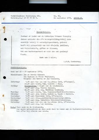 Castenrays dorpsblad De Schans 1973-09-21